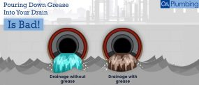 pouring down grease into drain is harmful