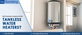 Plumbing Companies Prefer Tankless Water Heaters