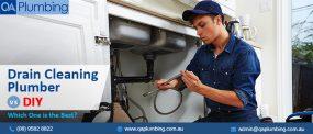 Drain Cleaning Plumber vs DIY